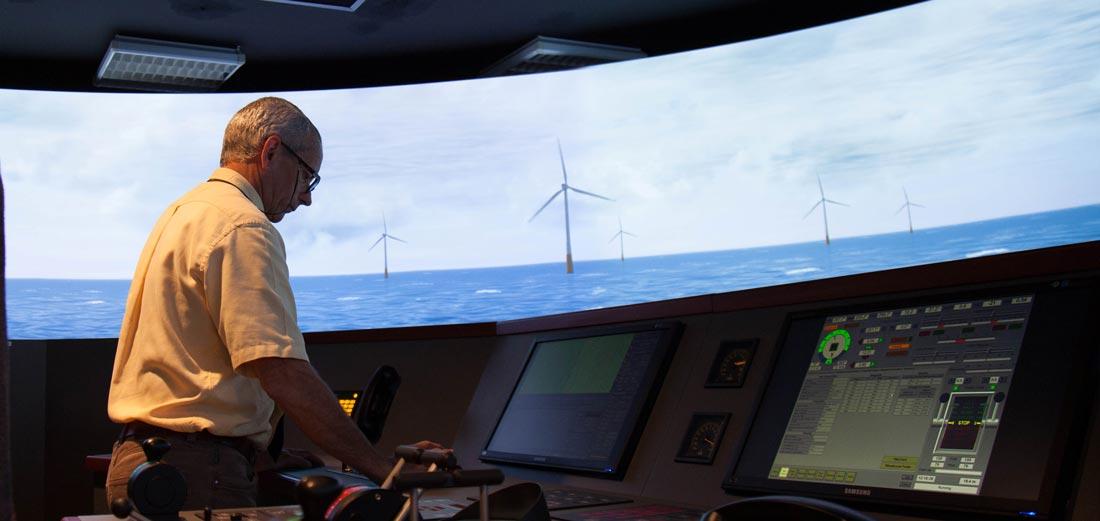 Simulator navigation in field wind energy, ENSM Nantes campus