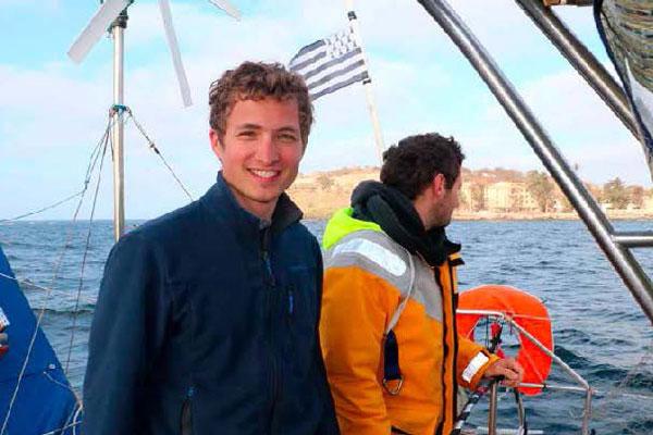 Nomade des mers - Simon Bernard à bord