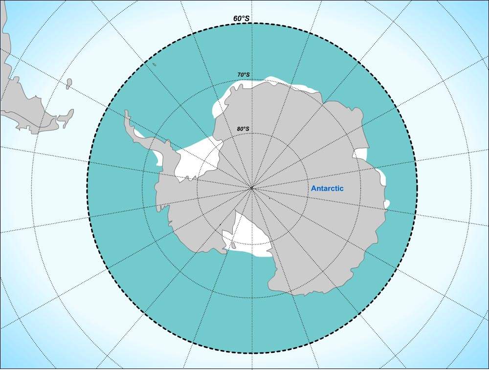 Arctic and Antarctic polar zones