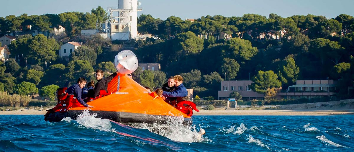 Equipage de Rad'Lô en mer
