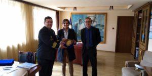 Visite d'Evelyne Iliou et Yann Vachias de l'ENSM - French Maritime Academy- à Costanza